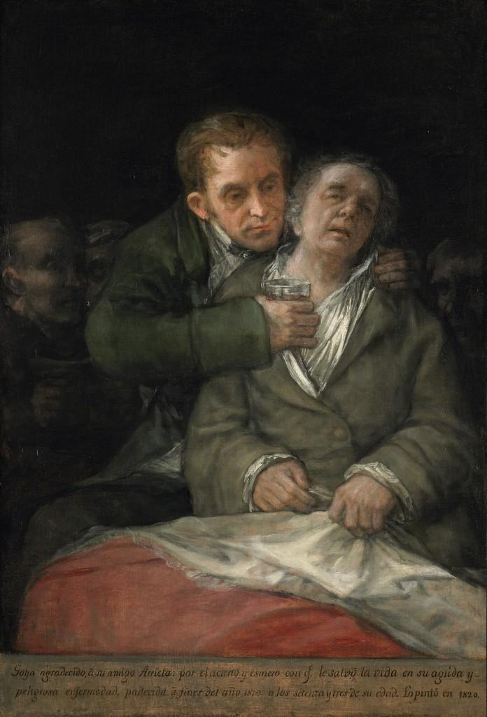 Self Portrait with Doctor Arrieta, 1820