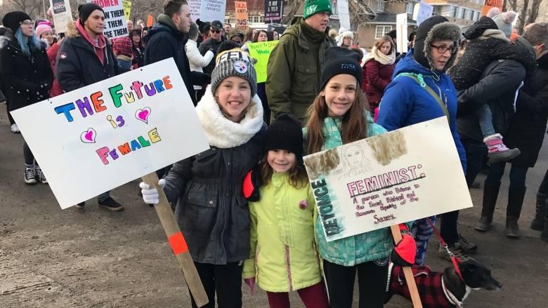 Marcha feminista en Canadá 2018